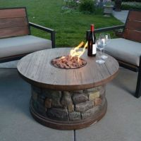 Gas Fire Pit Heater Patio Deck Pool Table Stone Outdoor ...