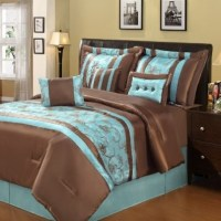 Brown and teal bedding, Family Dollar. | Master Bedroom ...