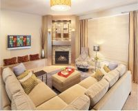 corner fireplace... sectional placement | Living room ...