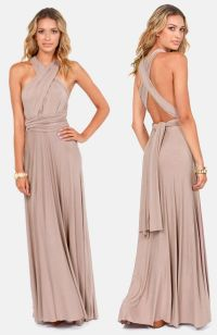 Tricks of the Trade Taupe Maxi Dress | Mermaid bridesmaid ...