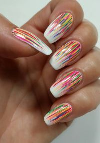 Best 25+ Colorful nail designs ideas on Pinterest