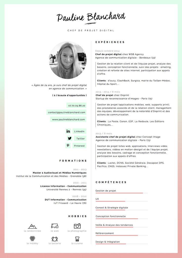 cv chef de projet digital pdf