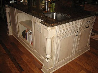 17 Best Ideas About White Distressed Cabinets On Pinterest