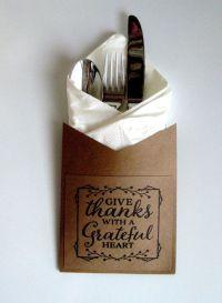 Give Thanks Utensil Holders ~ Fall Fork, Knife, Spoon ...