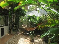 The private Balinese garden off the main bedroom ...