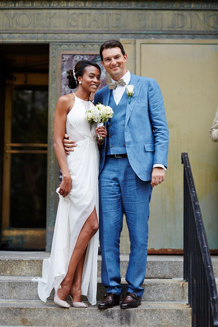 the courthouse bride courthouse wedding dresses City Hall Weddings 14 NYC Couples To Melt Your Heart refinery29