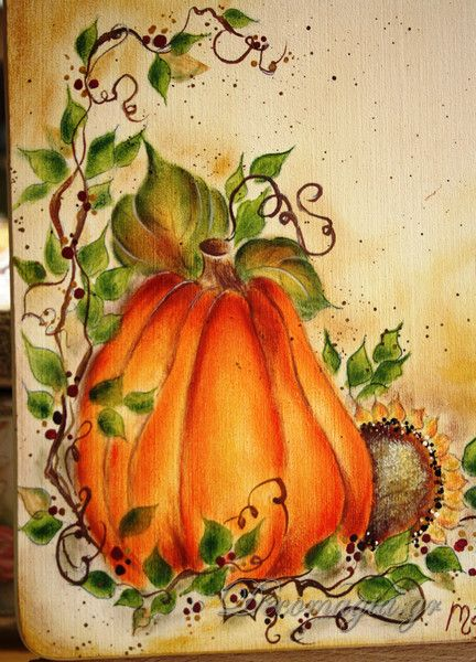 Fall Scenes Wallpaper With Pumpkins Easy Country Painting Creations With Easy Country