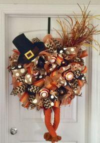 25+ best ideas about Turkey wreath on Pinterest