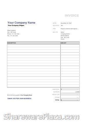 Free Invoices Templates Pdf Downloads | Invoice Template In Pdf