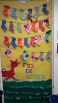 Annes door at school. fox in socks.   ABC...   Pinterest ...