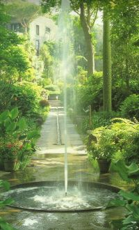 Small in-ground fountain. Russell Page | Worthy Water ...