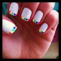 My fun summer nail design I did! www.sunsetsandbubbly.com ...