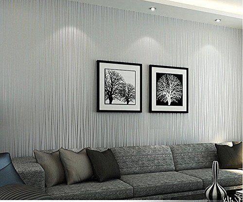 Self Adhesive White Brick 3d Wallpaper Hanmero Non Woven Classic Flocking Plain Stripe Modern