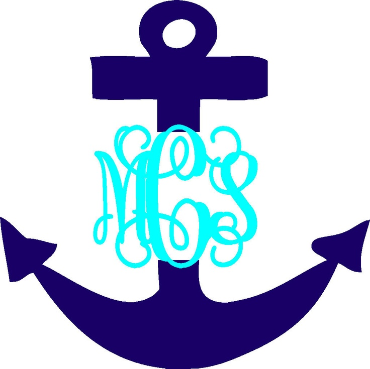 Cute Coffee Mug Wallpaper 5 Quot Anchor Vinyl Personalized Monogram Decal Stickers 8