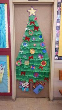 Christmas tree school door decoration