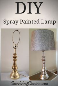 Mirror Spray Paint Lamp