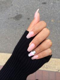 Goodbye pointy nails hello long squaoval nails! OPI pink ...