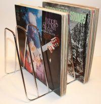 Vintage 1960s LP Vinyl Record Metal Storage Rack Stand
