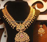 Malabar Gold Uncut Broad Haram   Jewellery Designs   Uncut ...