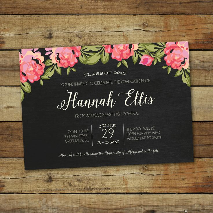 formal graduation invites