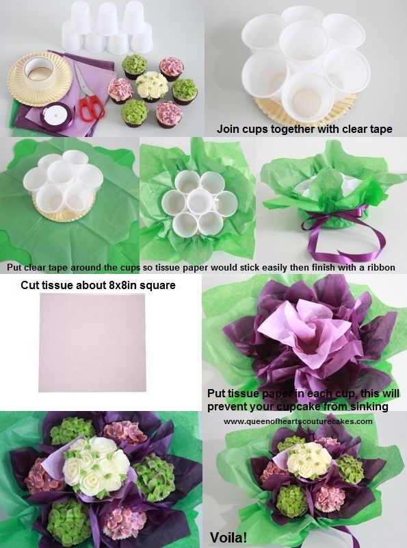 1000+ Ideas About Cupcake Bouquets On Pinterest | Hydrangea