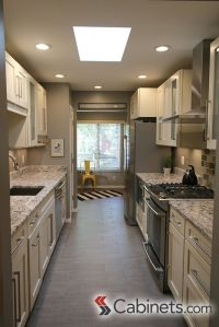A beautiful galley kitchen featuring our Deerfield ...