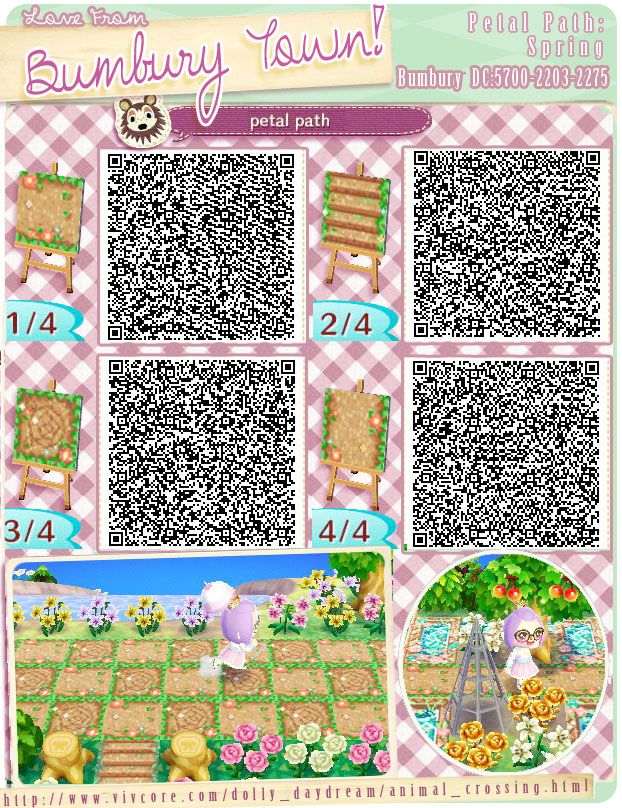 Acnl Flower Qr Codes Paths Images Of Home Design