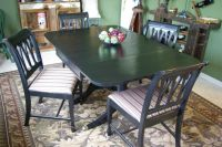 Vintage Duncan Phyfe Table and Chairs | Painted furniture ...