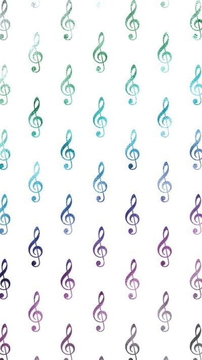 Rainbow Wallpaper Musical Clef Notes Free iPhone Wallpaper | SILVER SPIRAL STUDIO | Pinterest ...