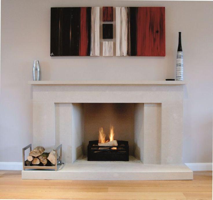 1000+ ideas about Modern Stone Fireplace on Pinterest
