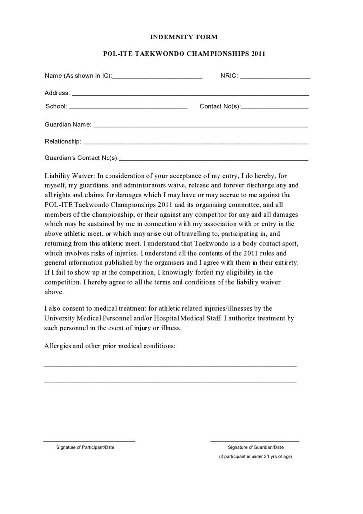 28+ Indemnity Waiver Template Sample Indemnity Agreement 12 - indemnity form template