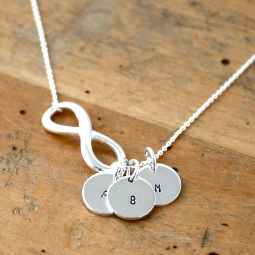 Infinity Necklace With Initials Sterling Silver