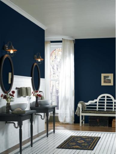 Dark blue paints front doors and color paints on pinterest