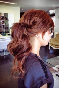 Lovely natural copper hair color with dark violet ...