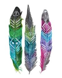 25+ best ideas about Painted Feathers on Pinterest