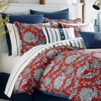 Nautica Tisbury QUEEN 5 pc Comforter Set *Red White Blue ...