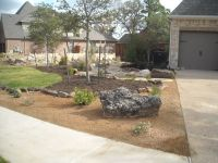 Front yard landscape - Xeriscape theme with decomposed ...