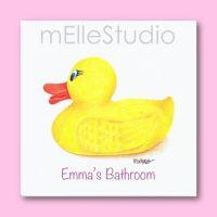 Girls Bathroom Art, Personalized Kids Art, Rubber Ducky ...