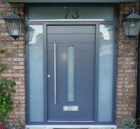 25+ best ideas about Grey front doors on Pinterest