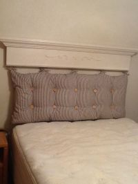 Tufted pillow headboard | Things I've Made | Pinterest ...
