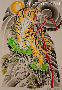25+ best ideas about Japanese Tiger Tattoo on Pinterest