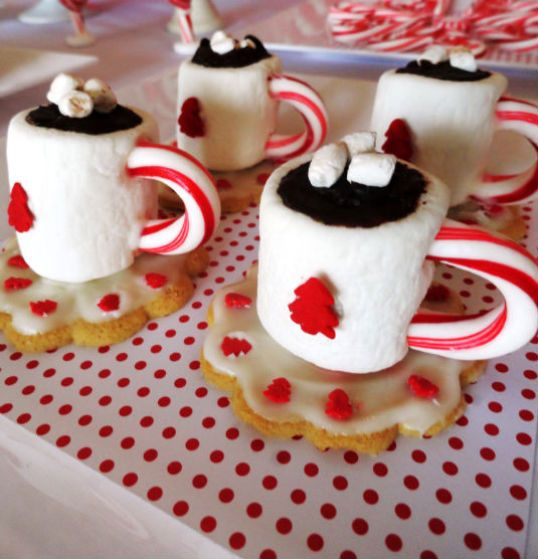 Cute Marshmallow Wallpaper Hd Holiday Cup And Saucer Treats Made With A Marshmallow