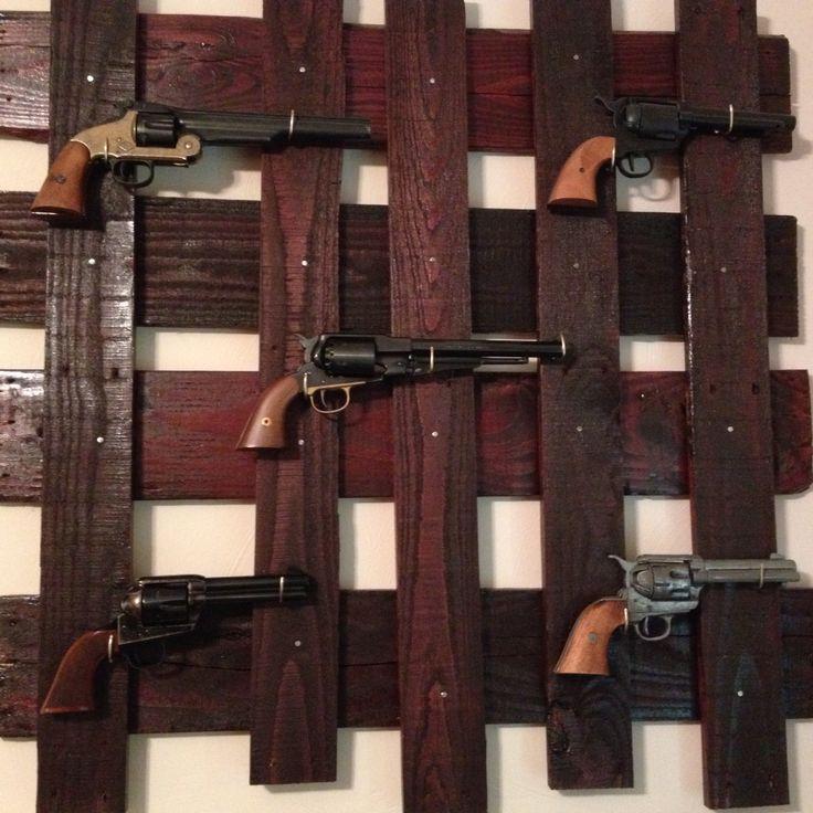 Home Made Pallet Gun Rack Outlaw Livin39 Pinterest