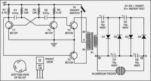 shock alarm circuit