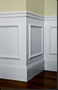 Brilliant !! Easy wall paneling idea..... BUY inexpensive ...