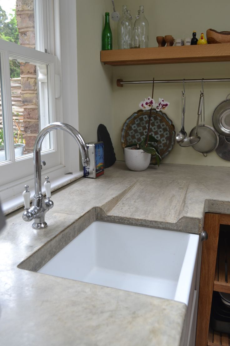 polished concrete kitchen concrete kitchen floor Polished concrete worktop with sloped drainer www arnoldskitchens co uk