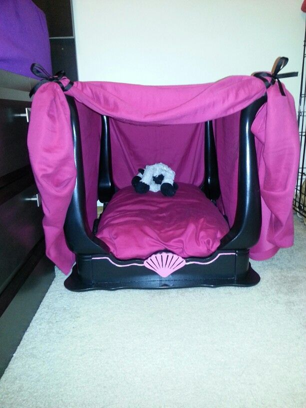 Fur Babies World Toys Made This Diy Canopy Dog Bed For My Lucy For Christmas Out