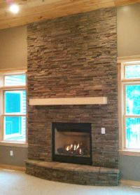 25+ best ideas about Stacked stone fireplaces on Pinterest ...