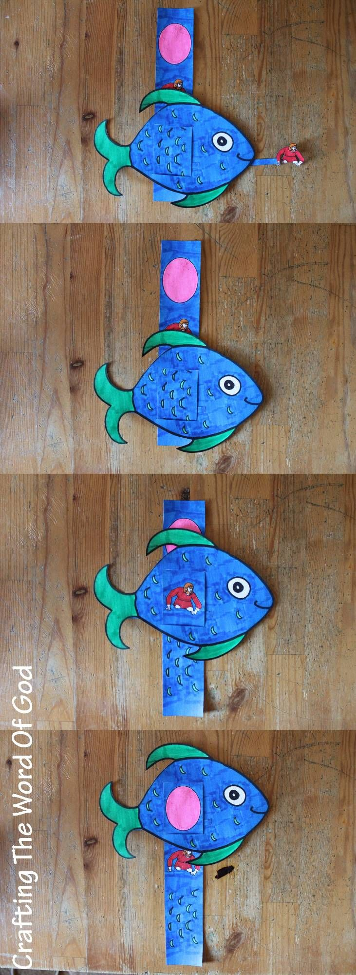 This cute craft is for the story of jonah and the great fish your kids jonah craftfish craftssunday school