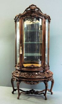 Furniture , Artful Piece of Curio Cabinets : Antique Curio ...